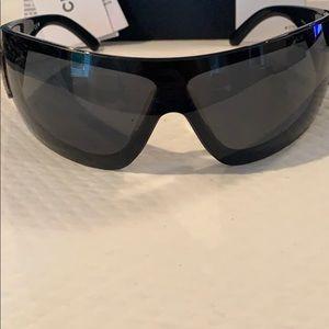 EUC RARE Chanel signature wrap around sunglasses